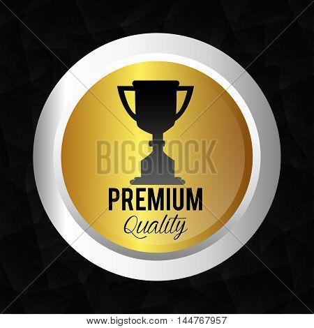 seal guaranteed premium quality gold vector illustration design poster