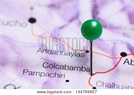 Colcabamba pinned on a map of Peru