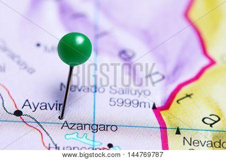 Azangaro pinned on a map of Peru