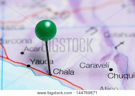 Chala pinned on a map of Peru