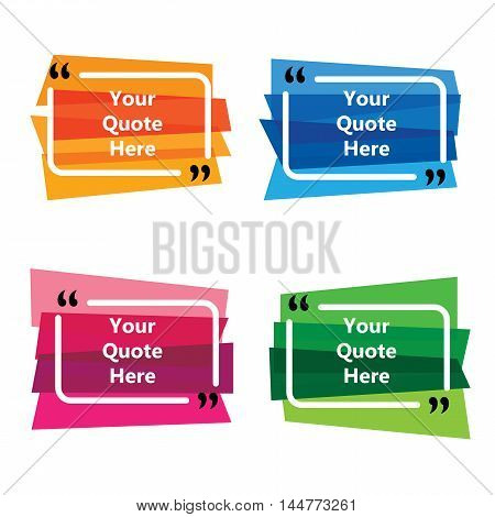 Business Communication Quote Templates - Vector Graphic Collection Set