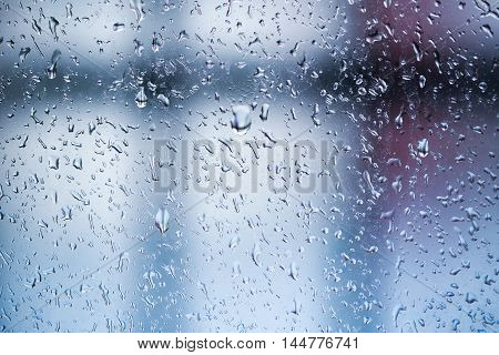 Water Drop On Glass