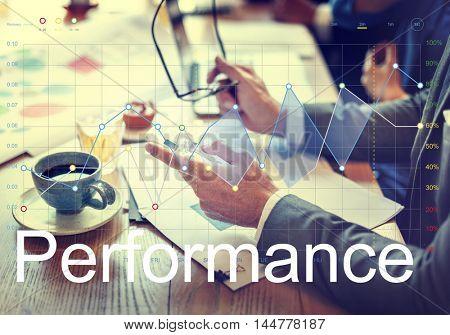 Analysis Stock Exchange Graph Report Progress Concept