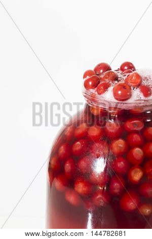 Flew off to lid jars with berry compote.