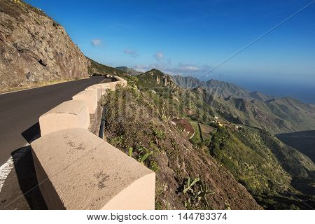 Scenic view of Anaga mountains Tenerife Canary islands Spain.