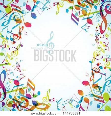 Abstract backgrounds with colorful tunes. Vector art