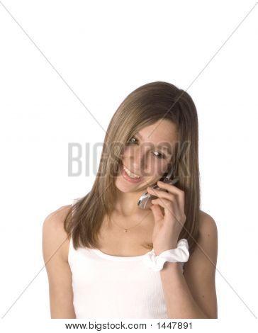 Teen Listening To Cellular