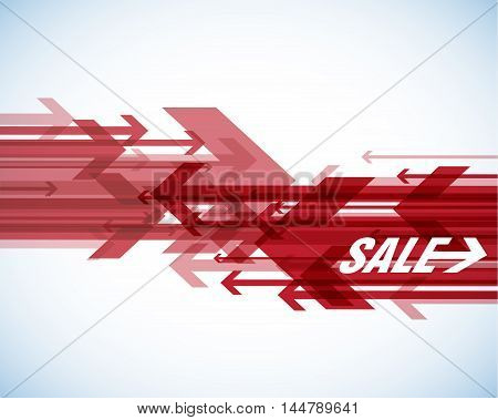 Red sale arrows with place for your own text.