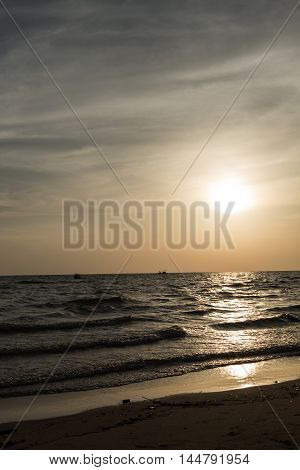 Colorful dawn over the sea. Nature composition.