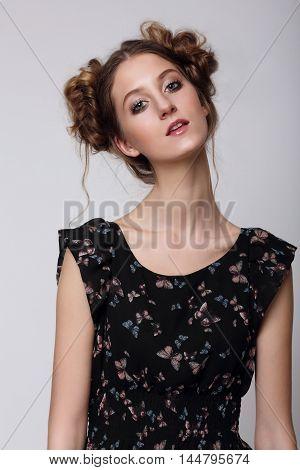 Portrait Of A Cute Girl.