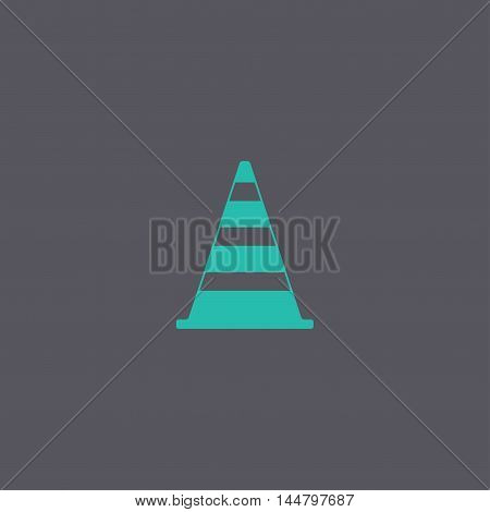 Traffic Cone Flat Icon.