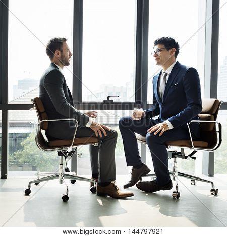 Businessman Communication Company Meeting Concept