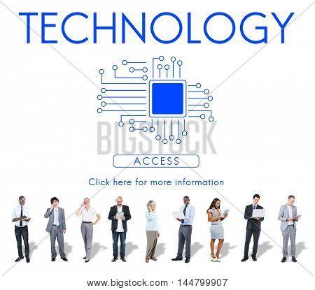 Technology Innovation Connection Internet Communication Concept