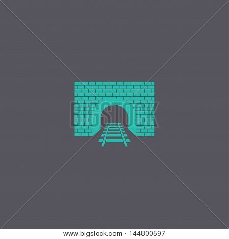 Tunnel Icon. Vector Concept Illustration For Design