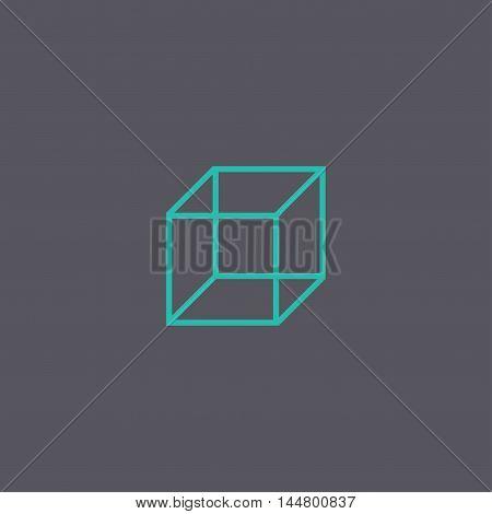 Cube Icon. Vector Concept Illustration For Design