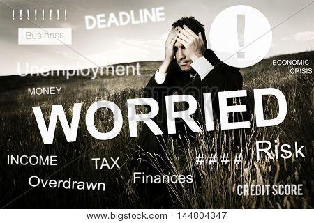 Worried Stress Problem Exam Job Concept
