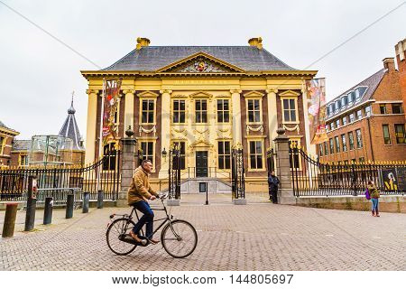 Hague, Netherlands - April 5, 2016: Mauritshuis or Maurice House art museum in Hague, Holland