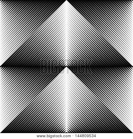 Seamless Triangle Pattern. Abstract Black and White Background. Vector Gradient Geometric Texture