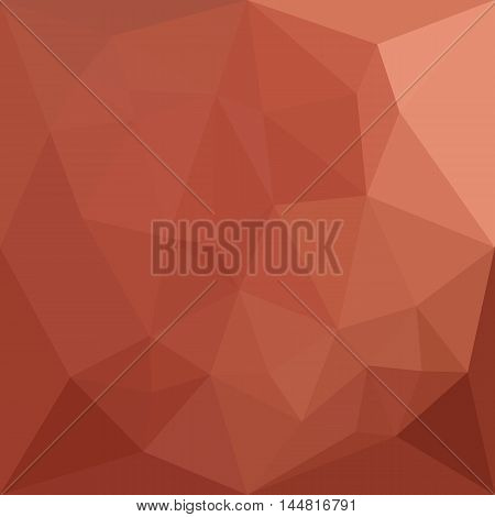 Low polygon style illustration of a burnt sienna orange abstract geometric background.
