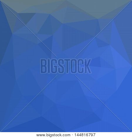 Low polygon style illustration of a deep skyblue abstract geometric background.