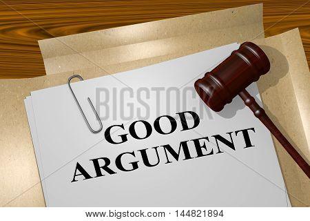 Good Argument - Legal Concept
