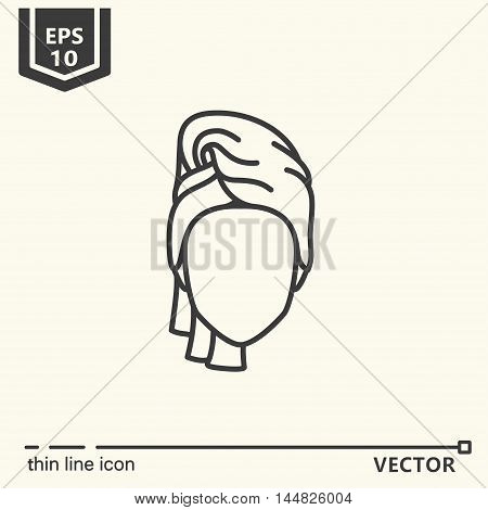Thin line icon - personal care. EPS 10. Isolated object