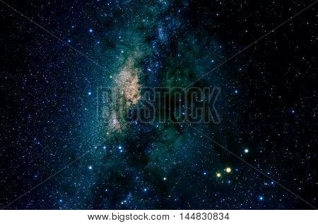 Stars and galaxy space sky night background, Africa
