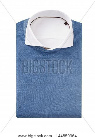 men shirt with pullover isolated on white.