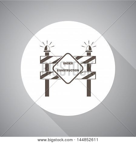 Construction Roadblock  vector icon for web and mobile.