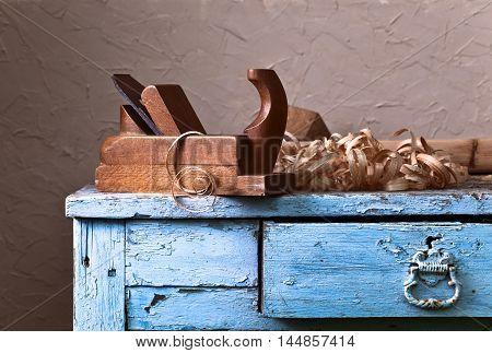 Wooden Plane In A Workshop
