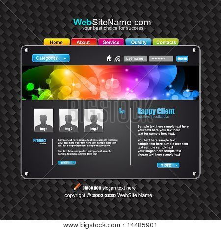 Futuristic High Tech Website Template with Attrative colours