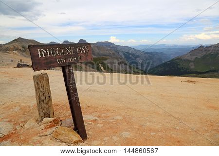 Summer at Imogene Pass in Ouray, Colorado