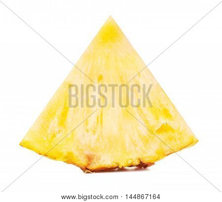 juicy pineapple slice, isolated on white background