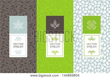 Vector Set Of Packaging Design Templates