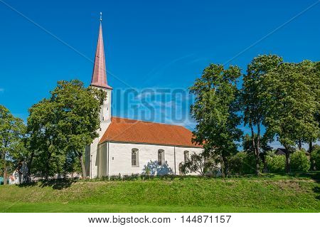 Built in 13th century Church of St. Michael is the biggest one-nave church in Estonia. Johvi Estonia Baltic States Europe