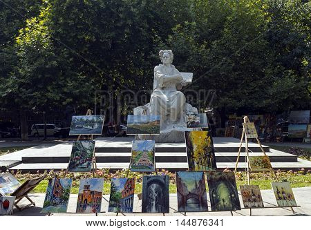 YEREVAN, ARMENIA - AUGUST 19, 2016:Martiros Saryan (1880-1972) painter was one of the giants of Armenian cultural at the turn of the century.August 19,2016 Yerevan,Armenia.