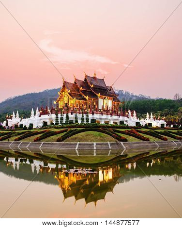 architecture in the Lanna style, Chiang Mai, Thailand