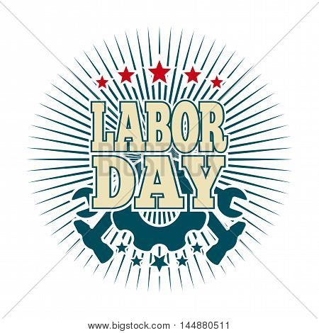 Labor Day logo. Template card for the Labor Day