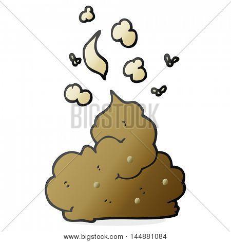 freehand drawn cartoon gross poop