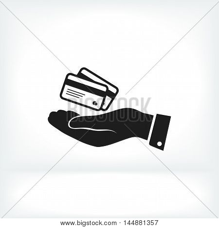 Credit Card Icon In Hand