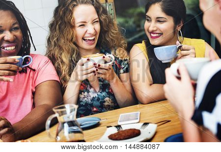 Diversity Women Socialize Unity Together Concept
