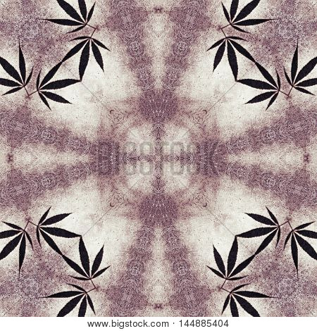 Ganja leaf abstract hippie background or image