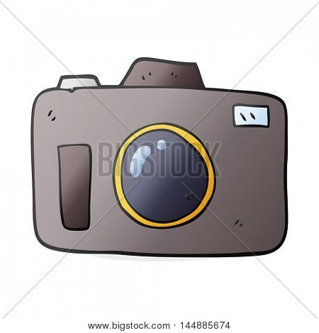 freehand drawn cartoon camera