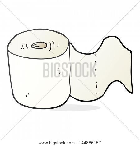 freehand drawn cartoon toilet roll