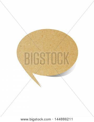 bubble talk tag paper craft stick on white background