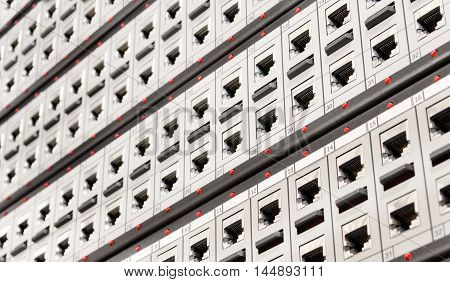 Network Rj-45 Patch Panel With Switches