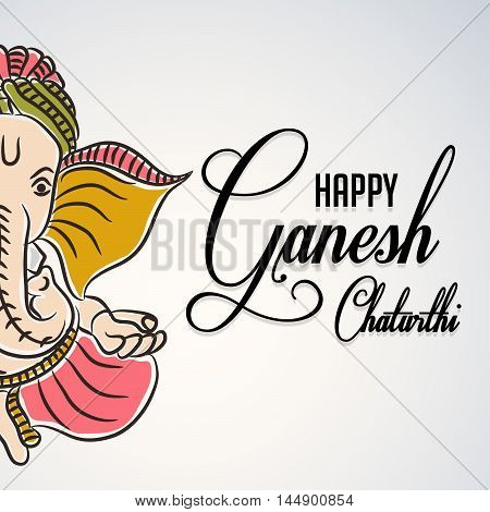 Creative Ganesh background for festival of ganesh chaturthi celebration.