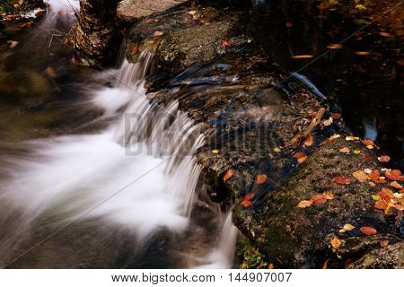 River in Autumn season at Geres National Park, Portugal