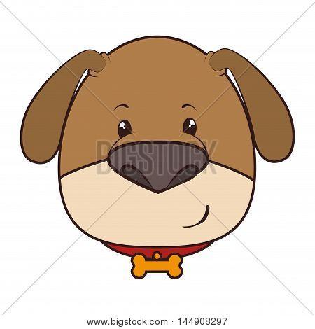 dog  face mascot bone collar puppy animal adorable cartoon mascot character vector illustration