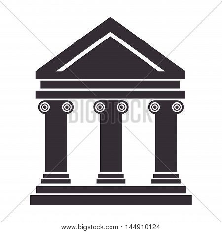 bank building banking financial economy money exterior courthouse vector illustration